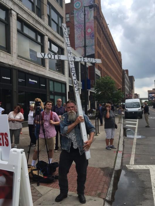Protest vor Republican Convention hochkant